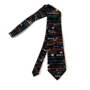 Early 2000 Computer Graphics Funny Neck Tie